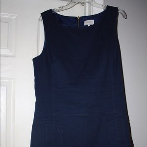 Navy Sleeveless dress with pockets. Size 12